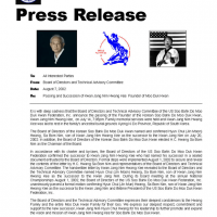 Moo Duk Kwan Founder Hwang Kee Passing And Succession